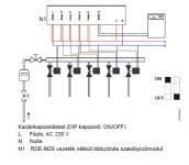 Siemens RDE-MZ6 zónaszabályzó vezeték nélküli kapcsolattal max 6 zónára