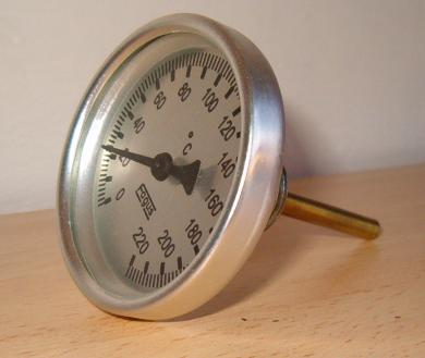 Átmérő: 63mm,-20...+60°C, védőcsöves bimetál hőmérő