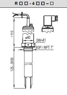 NIVELCO  RCM-414-8Ex rezgővillás szintkapcsoló