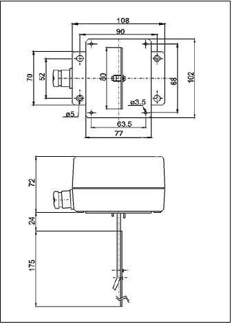 AFS1/DBSL-1E/SL1E áramláskapcsoló (NSL-1E)