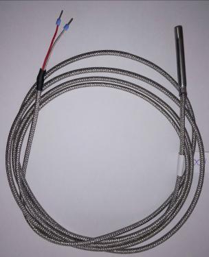 Pt100 hőmérséklet érzékelő fémhálós kábellel