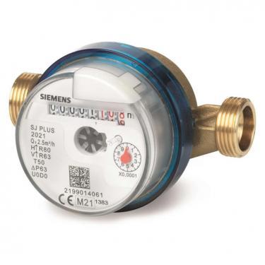 """Siemens WFW240.D110 Mechanikus egysugaras vízmérő modul csatlakozóval, 2.5 m³/h, 110 mm, G ¾ """", melegvízre"""