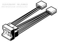 Audi, Seat, Skoda, VW -ISO rádió csatlakozó kábel 552032
