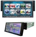 """7710 7"""" rádió-DVD lejátszó full motoros TFT LCD levehető érintőképern"""