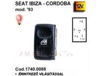 1740.0088 Seat Ibiza/Cordoba ablakemelő kapcsoló