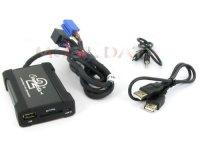 Skoda MP3/USB/SD/AUX illesztő Mini ISO csatlakozóval szerelt rádiókhoz