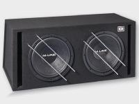 Gladen Audio M-LINE 12 VB DUAL kettős autóhifi subwoofer reflex ládába