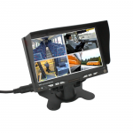 ABM univerzális 7'' TFT-LCD QUAD monitor (12/24V) audio bemenettel