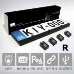 KIYO D Ultimate 4R rendszámtábla keretes aktív lézeres jelzőkészülék 4 szenzorral