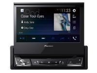 Pioneer AVH-A7100BT 1DIN kiforduló érintőképernyős autós multimédia lejátszó CD/DVD, Bluetooth, Apple Carplay Android Au