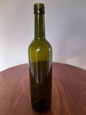 Borosüveg mosott csavaros olajzöld 750 ml